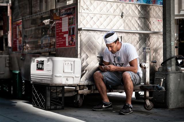 muž, kuchař, chladící box
