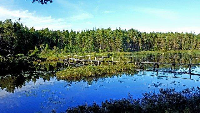 jezero ve Švédsku