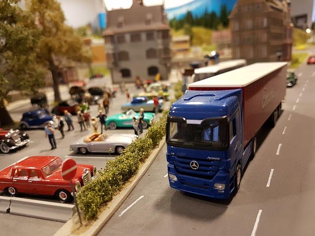 modrý kamion