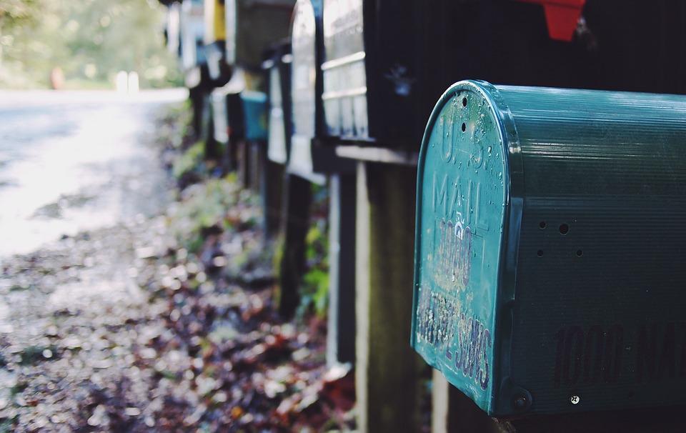 poštovní schránka na dopisy